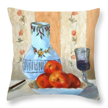 Pastel Study Throw Pillow