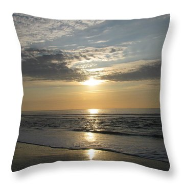 Pastel Sunrise Throw Pillow by Ellen Meakin