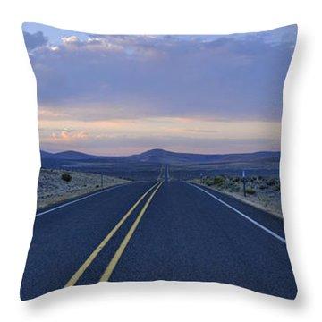 Pastel Sunrise Throw Pillow by Sebastien Coursol