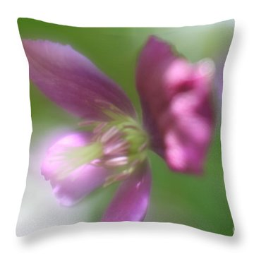 Throw Pillow featuring the photograph Pastel Symphony by Mary Lou Chmura