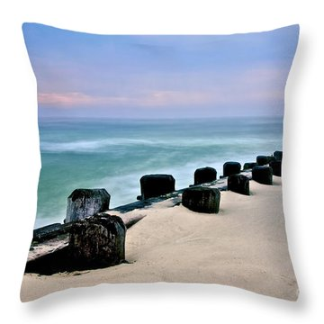 Pastel Waters Throw Pillow