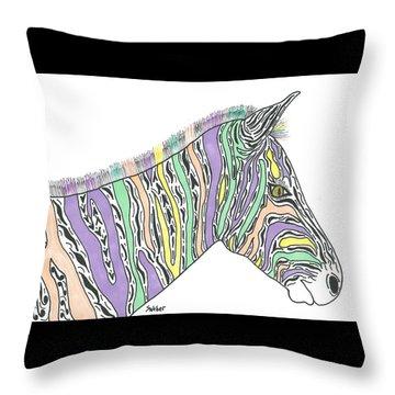 Pastel Zebra  Throw Pillow
