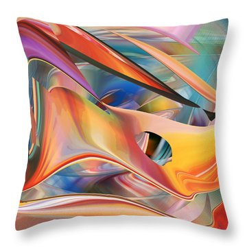 Pastels  Abstract Throw Pillow