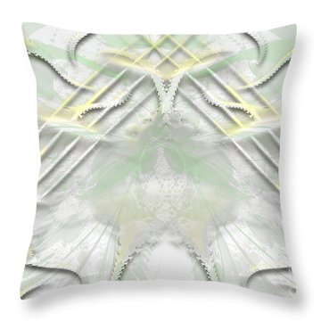 Throw Pillow featuring the digital art Pastels Around The World by Melissa Messick