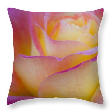 Throw Pillow featuring the photograph Pastels by David Millenheft