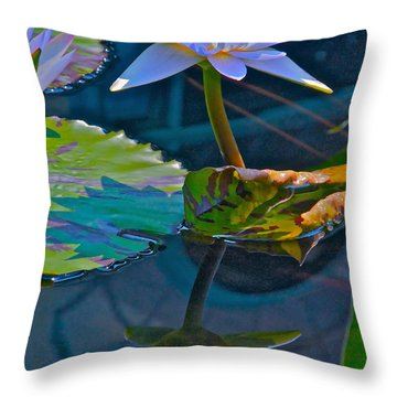 Pastels In Water Throw Pillow by Byron Varvarigos