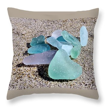 Throw Pillow featuring the photograph Pastels by Janice Drew