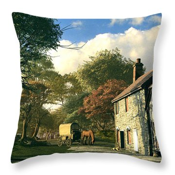 Pastoral Homestead Throw Pillow by Dominic Davison