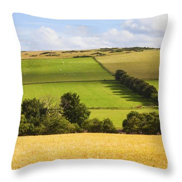 Pastoral Scene Throw Pillow