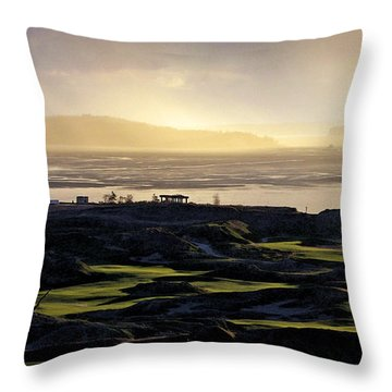 Throw Pillow featuring the photograph Pastoral Symphony - Chambers Bay Golf Course by Chris Anderson