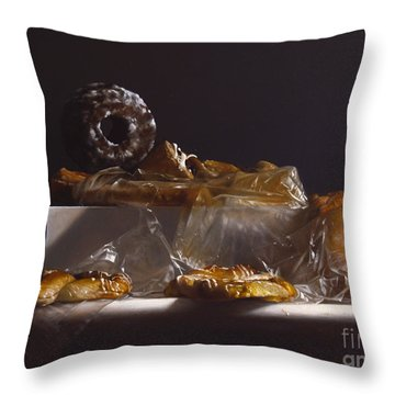Pastry Throw Pillow by Larry Preston