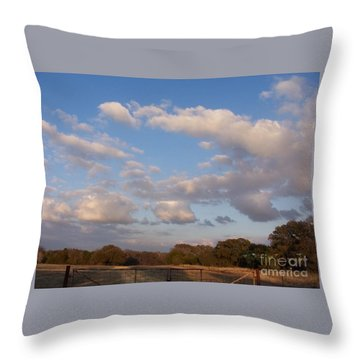 Pasture Clouds Throw Pillow
