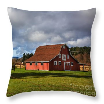 Throw Pillow featuring the photograph Pasture For Rent by Jean OKeeffe Macro Abundance Art