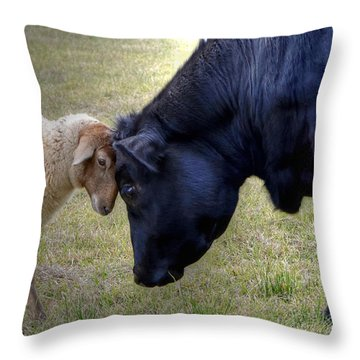 Pasture Pals Throw Pillow
