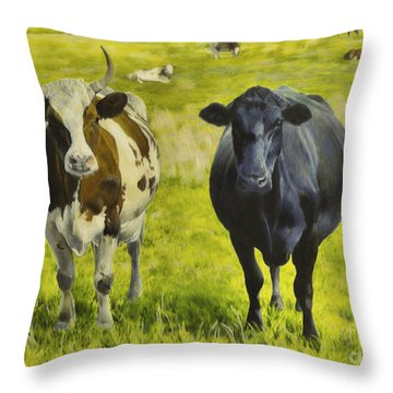 Pasture Throw Pillow by Veikko Suikkanen