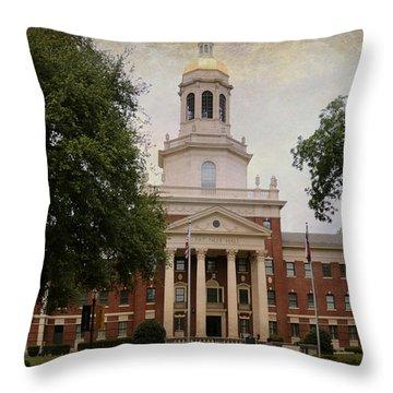 Pat Neff Hall - Baylor University Throw Pillow