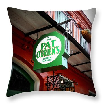 Pat O's Throw Pillow by Beth Vincent