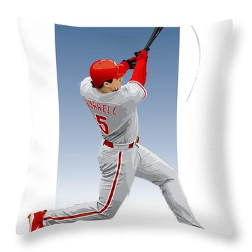 Pat The Bat Burrell Throw Pillow