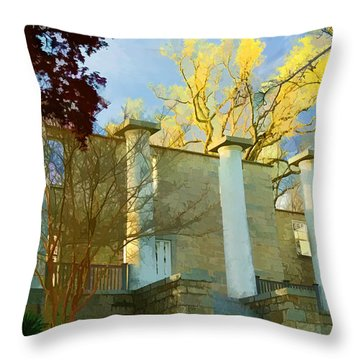 Throw Pillow featuring the photograph Patapsco Female Institute by Dana Sohr