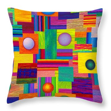 Patches Throw Pillow by David K Small