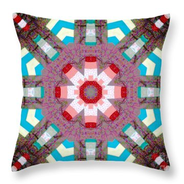 Patchwork Art Throw Pillow by Barbara Griffin