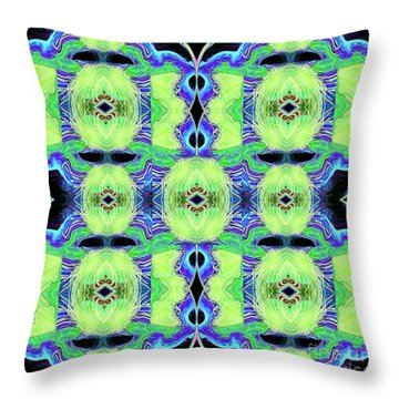 Patchwork Featherbed Quilt Throw Pillow by Andee Design