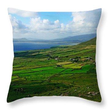 Patchwork Landscape Throw Pillow by Aidan Moran
