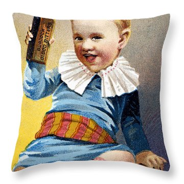 Patent Medicine, 19th C Throw Pillow by Granger