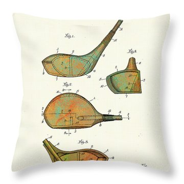 Patented Golf Club Heads 1926 Throw Pillow
