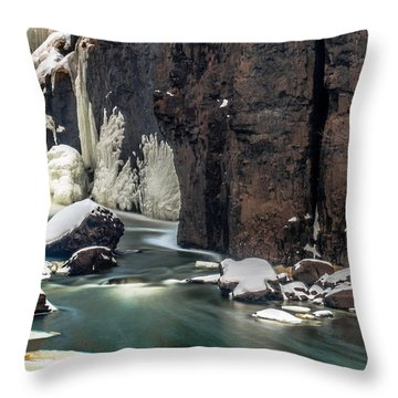 Paterson Falls Frozen Fantasy Throw Pillow