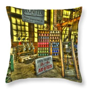 Paterson Silk Mill Throw Pillow
