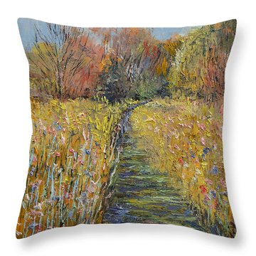 Path In The Meadow Throw Pillow