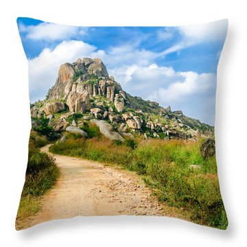 Path Into The Hills Throw Pillow