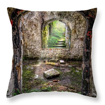 Path Less Travelled Throw Pillow