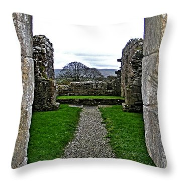 Path Throw Pillow by Nina Ficur Feenan