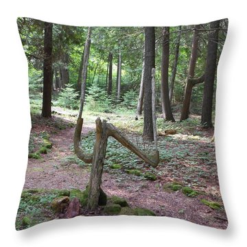 Path Of Choice Throw Pillow