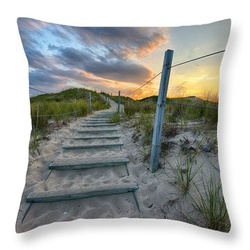Path Over The Dunes Throw Pillow