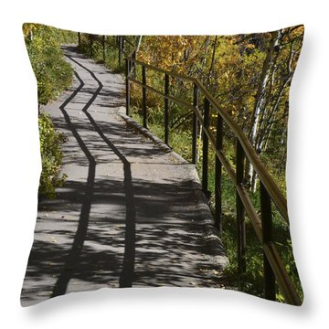 Path Shadow Throw Pillow by Cheryl Miller
