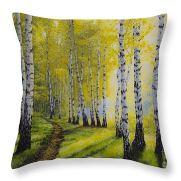 Path To Autumn Throw Pillow by Veikko Suikkanen