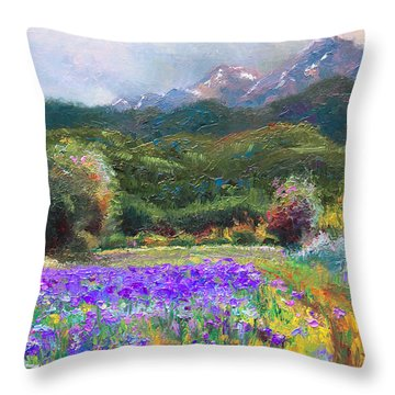 Throw Pillow featuring the painting Path To Nowhere by Talya Johnson