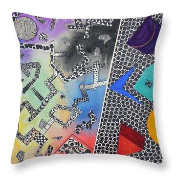 Pathway Throw Pillow by Shannan Peters