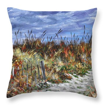Pathway To North Myrtle Beach Throw Pillow
