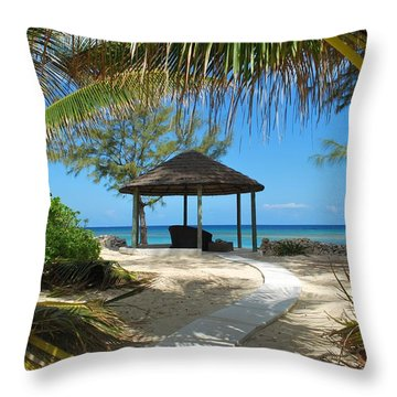Pathway To Paradise Throw Pillow by Bob Sample