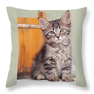 Patience Throw Pillow by Kenny Francis