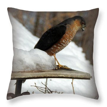 Patience Throw Pillow by Mim White