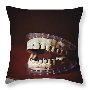 Throw Pillow featuring the photograph Patient 910 by Trish Mistric