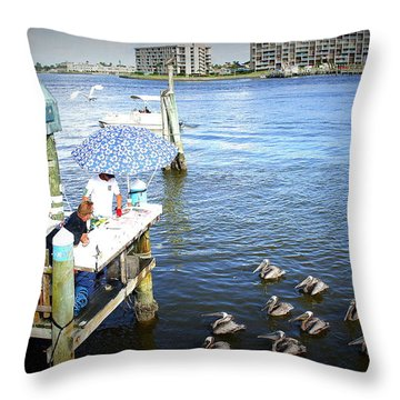 Throw Pillow featuring the photograph Patiently Waiting by Laurie Perry
