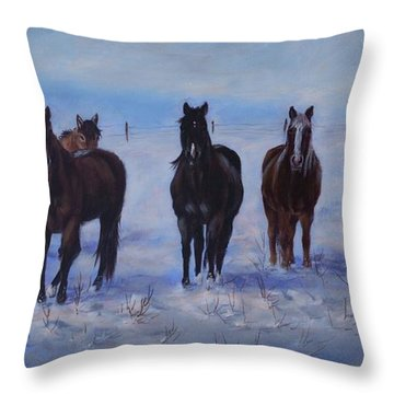 Patiently Waitling Throw Pillow