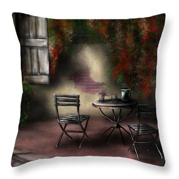 Patio Garden Throw Pillow