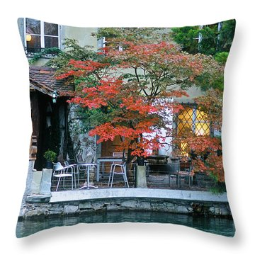 Patio On The River Throw Pillow